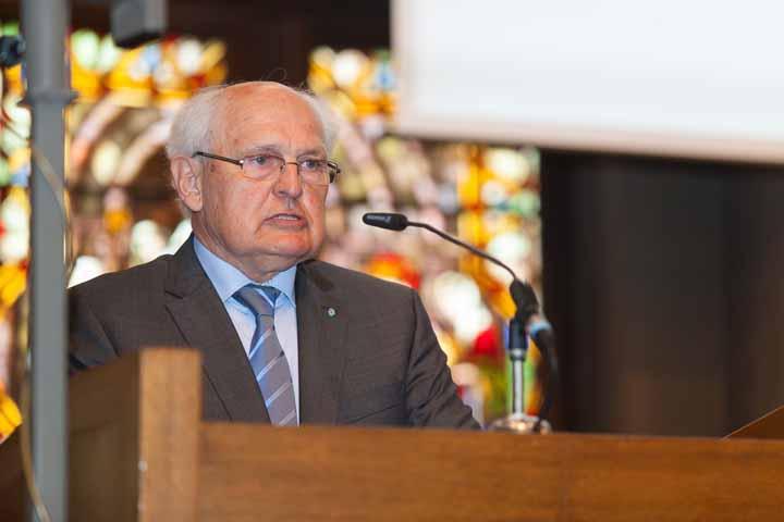 Altlandrat Hanns Dorfner während der Jubiläumsansprache