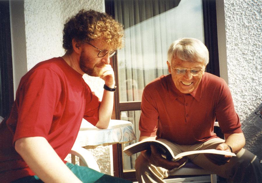 Mit dem Dichter und Übersetzer Jakub Ekier, Polen