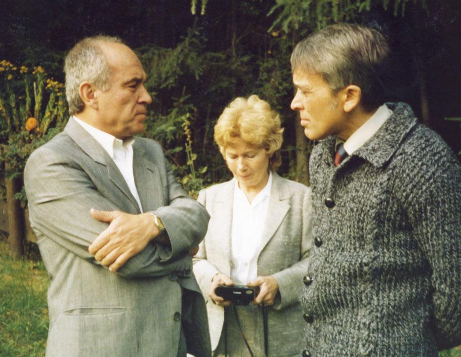 Mit dem Maler und Graphiker Karel Franta und Gattin, Tschechien