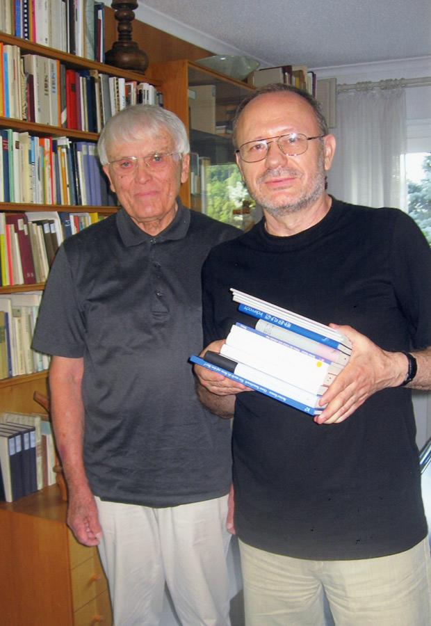 Mit dem Autor und Übersetzer Prof. Dr. Petro Rychlo, Ukraine