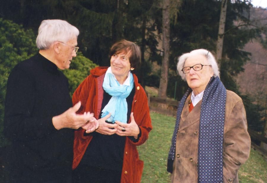 Mit der Dichterin und Übersetzerin Mireille Gansel, Frankreich, und dem Schriftsteller Ralph Giordano
