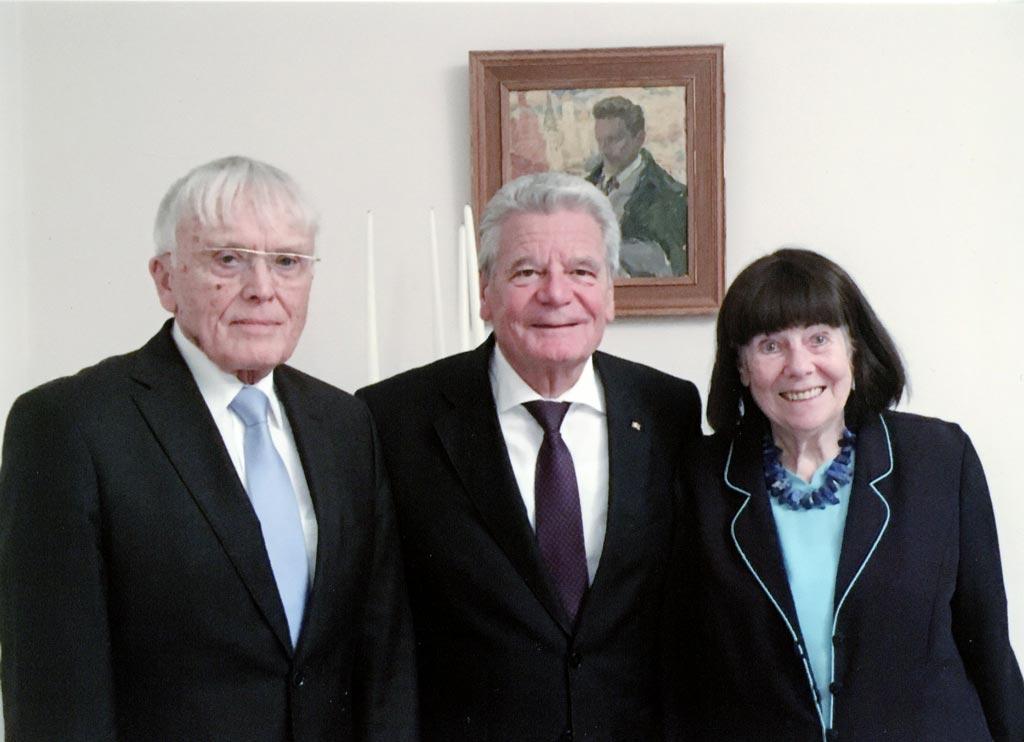 Reiner und Elisabeth Kunze bei Bundespräsident Gauck